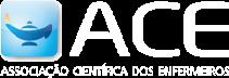 Logo da ACE - Associação Científica dos Enfermeiros em negativo